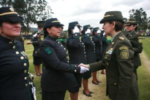 Colombian police officers