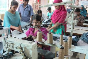 Women in a garment factory in Bangladesh