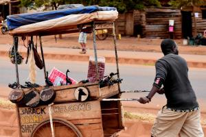 Street vendor in Arusha, Tanzania.